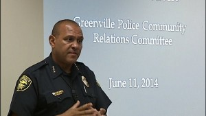Chief Aden of the Greenville Police Department discusses the focused deterrence strategy with his community